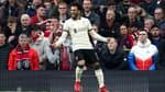 Mohamed Salah lors de Manchester United-Liverpool