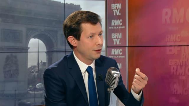 François-Xavier Bellamy sur BFMTV et RMC, le 26 mars.