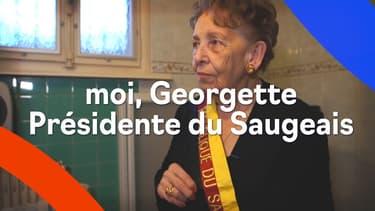Georgette, 86 ans, présidente de la République libre et autoproclamée du Saugeais