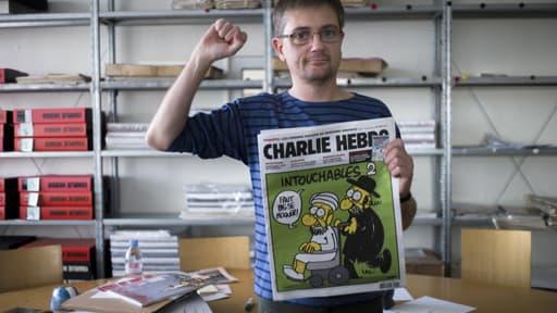 Charb, directeur de la publication de Charlie Hebdo, le 19 septembre 2012 à Paris.