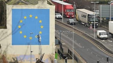 L'oeuvre murale de Banksy à Douvres, le 7 janvier 2019.