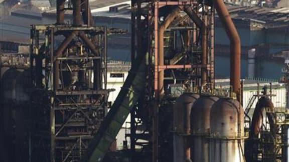 Les hauts-fourneaux d'ArcelorMittal à Florange-Hayange. Le projet Ulcos de capter le carbone qui se dégage de l'aciérie de Florange et le stocker sous terre pour réduire les émissions de CO2 pourrait assurer l'avenir des ces hauts-fourneaux, à l'arrêt dep