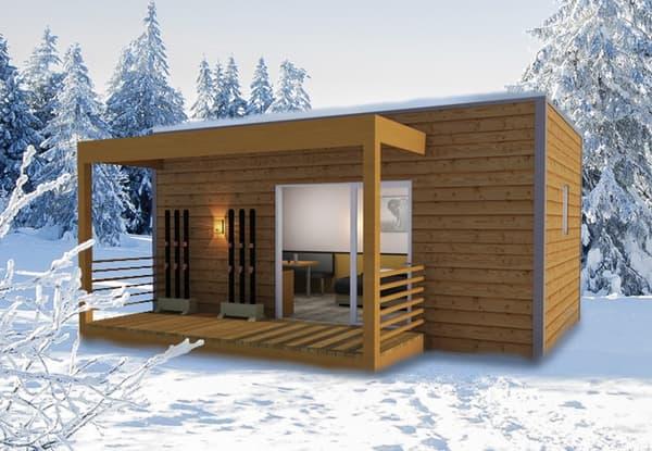 Ce studio de 20 m2 équipé d'une cuisine et d'une salle de bains coûte environ 32.000 euros TTC.