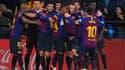 La joie des joueurs du Barça après le nul à Villarreal