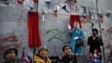 """La """"cérémonie d'excuses"""" pour la déclaration Balfour organisée par Banksy le 1er novembre 2017."""