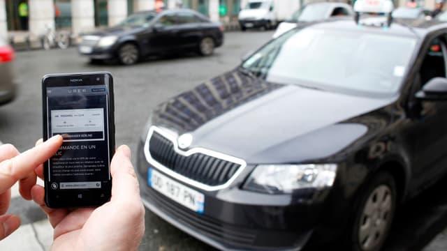 Passager et chauffeur d'Uber, chacun a accès au numéro de téléphone portable de l'autre