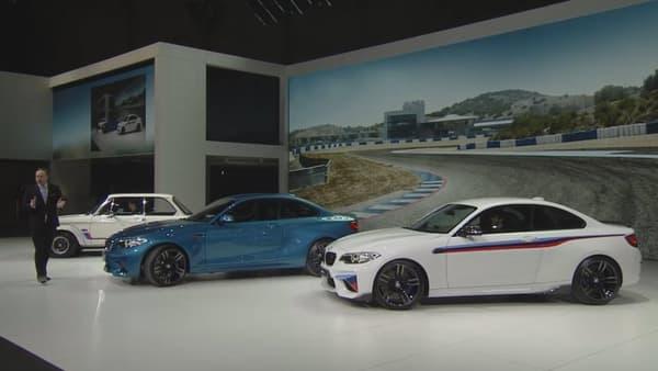 BMW a mis l'accent sur sa gamme M au salon automobile de Genève 2016, avec la M2.