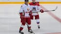 Le président biélorusse Alexandre Loukachenko se met en scène sur la glace avec son homologue Vladimir Poutine