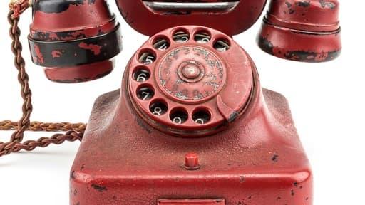 Photo non datée du téléphone ayant appartenu à Hitler