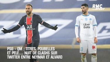 PSG - OM : Titres, poubelles et Pelé… Nuit de clashs sur Twitter entre Neymar et Alvaro