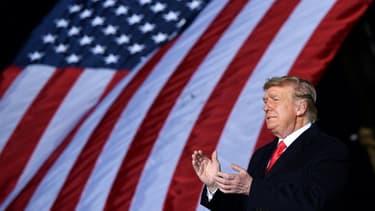 Le président américain Donald trump s'exprime depuis Dalton, en Géorgie, le 4 janvier 2021