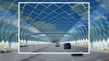 """Projection studio de l'intérieur du """"Solar serpent"""" (image d'illustration)"""