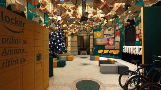 """Amazon loft for Christmas"" à Milan"
