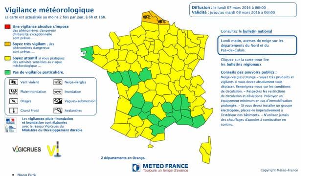 Le Nord et le Pas-de-Calais sont placés en vigilance orange