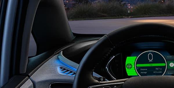 L'intérieur de la Chevrolet Bolt, le modèle jumeau de l'Opel Ampera-e.