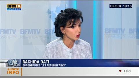 Rachida Datiface à Ruth Elkrief