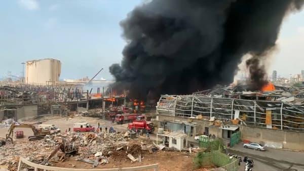 L'incendie du 10 septembre s'est déclaré juste à côté du point de départ des explosions du 4 août.