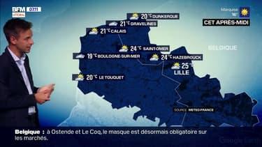 Des nuages de plus en plus nombreux sur la Côte d'Opale, 20°C à Dunkerque et jusqu'à 21°C à Calais