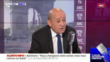"""Pour Jean-Yves Le Drian, il faut """"maintenir en permanence la pression à l'égard de la Russie"""""""