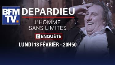 """""""Depardieu, l'homme sans limites"""" le lundi 18 février à 20h50 sur BFMTV"""