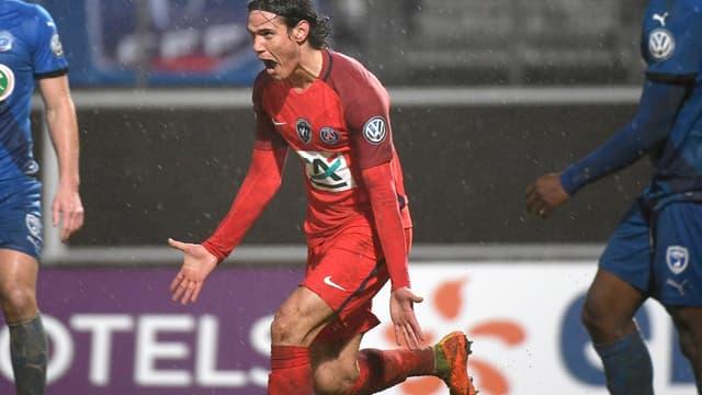 Edinson Cavani et le PSG sont toujours en course pour obtenir une troisième Coupe de France d'affilée.