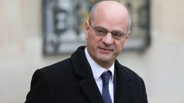 Le ministre de l'Education nationale Jean-Michel Blanquer dans la cour de l'Elysée le 11 décembre 2019