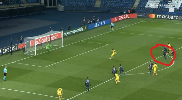 Verratti lors du penalty de Messi