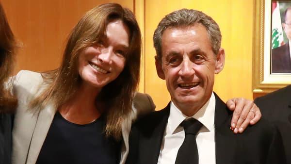 Carla Bruni-Sarkozy et Nicolas Sarkozy au Liban fin juillet