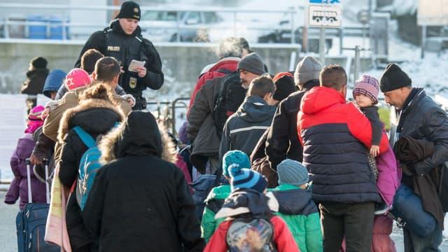 Des migrants arrivant dans le sud de l'Allemagne en janvier dernier