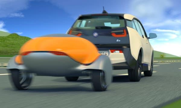 Une voiture électrique comme la BMW i3 pourrait trouver en la ''Nomad'' une solution parfaire pour rallonger son autonomie jusqu'à 500 kilomètres supplémentaires.