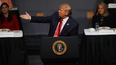 Donald Trump mardi 12 novembre 2019, au club d'économie de New York.