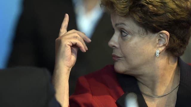 La présidente du Brésil Dilma Roussef, lors du sommet du Mercosur en Argentine, le 17 décembre 2014.