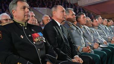 Sergeï Choïgou, ministre russe de la défense, avec Vladimir Poutine