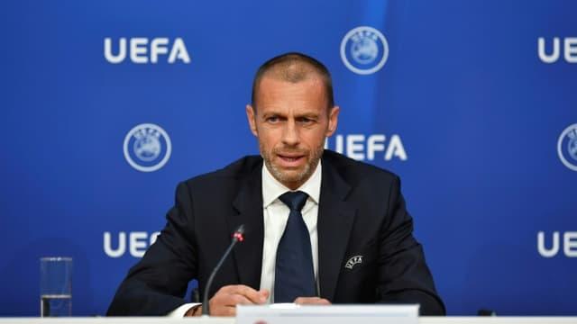 Le président de l'UEFA Aleksander Ceferin le 17 juin 2020 à Nyon