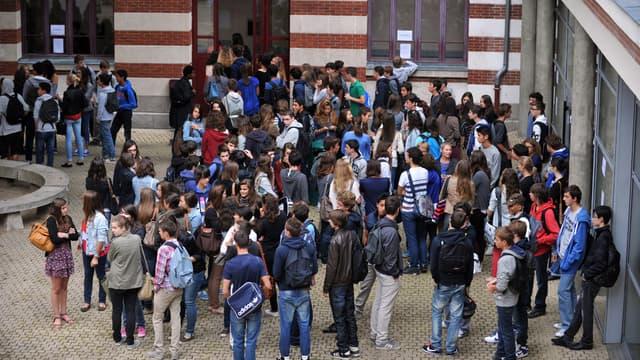 Cour de lycée - Photo d'illustration - AFP