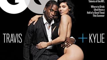 Kylie Jenner et son compagnon, Travis Scott, en couverture de GQ