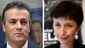 Les deux candidats, Laurent Lopez à gauche pour le FN, Catherine Delzers à droite pour l'UMP.