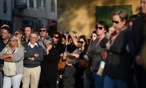 Des résidents de Eguilles rendent hommage à Mauranne, le 2 octobre 2017