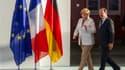 La chancelière Angela Merkel et le président français François Hollande évoqueront notamment la situation de la Grèce et la supervision des banques, a déclaré jeudi la dirigeante allemande lors d'une conférence de presse organisée avant leur rencontre. /P