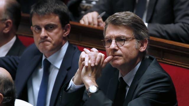 Manuel Valls et Vincent Peillon à l'Assemblée nationale.