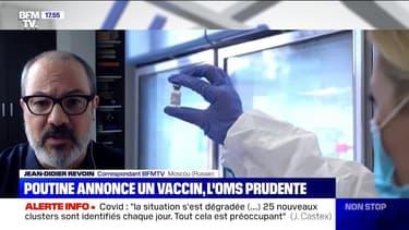 Coronavirus: Vladimir Poutine annonce un vaccin, l'OMS appelle à la prudence