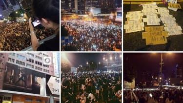 Des photos de l'occupation du quartier Central de Hong Kong, sur Instagram.