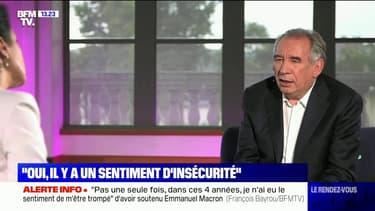 """François Bayrou: Emmanuel Macron est """"profondément préoccupé par l'organisation de l'État"""" sur l'insécurité"""