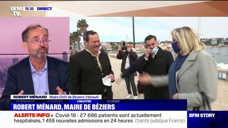 """Robert Ménard à propos de Marine Le Pen: """"Je trouve qu'elle s'améliore"""""""