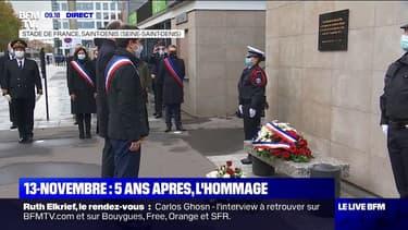 13-Novembre: un dépôt de gerbe et une minute de silence observés devant le Stade de France
