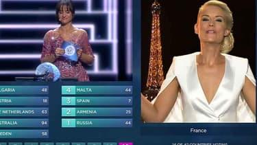 Elodie Gossuin lors de l'Eurovision 2016