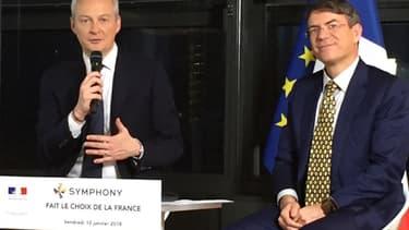 Le Français David Gurlé fondateur et PDG de Symphony a été reçu à Bercy par Bruno Le Maire, pour avoir choisi la France pour y implanter un centre de recherche.