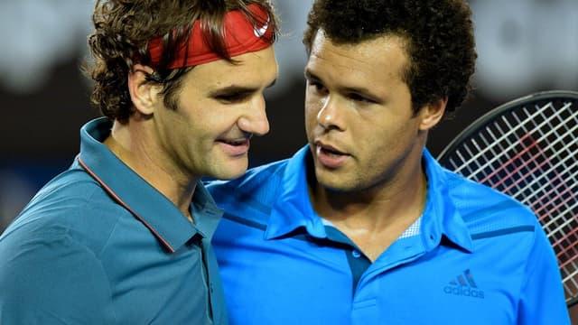 Roger Federer et Jo-Wilfried Tsonga