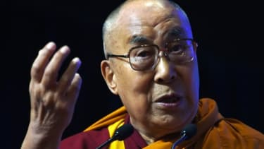 Le dalaï-lama le 13 août 2017 à Bombay, en Inde
