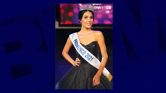 Eva Navarro a été élue Miss Provence 2021.